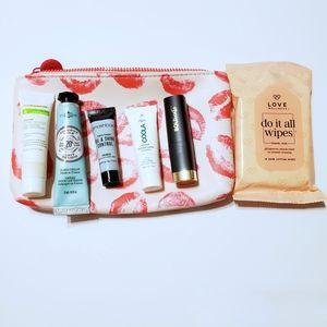 Ipsy Kisses Bundle w/ 6 Prodcuts & makeup bag